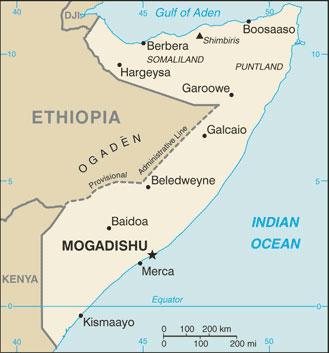 Map of Somalia - Humanium