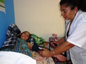 Soins à l'infirmerie de Casa Alianza